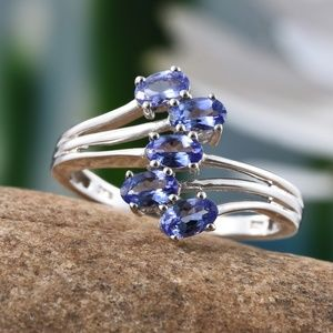 Jewelry - NEW Size 5 Genuine Tanzanite Sterling Silver Ring